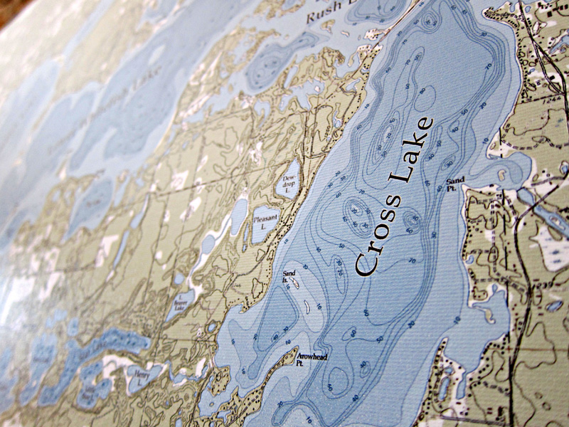 Detail View of the Whitefish Chain Map (Oringinal Color Option)